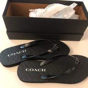 Coach Abbigail Flip Flop in Black